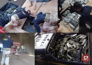 PRF prende pai e filho transportando quase meia tonelada de maconha em Guaíra