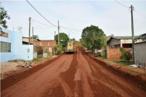 Rua do Alto da Glória de Umuarama receberão capa asfáltica na próxima semana