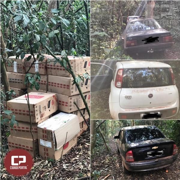 Policiais encontram depósito de cigarros em porto clandestino na cidade de Guaíra