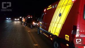 Colisão frontal entre dois veículos deixa mãe e filha com ferimentos na PR-558