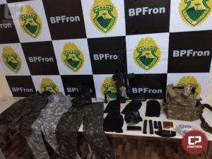 BPFron apreende contrabando, arma e munições em Guaíra