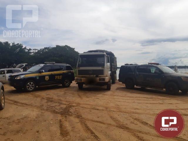 Operação Hórus registra apreensão de caminhão carregado com cigarros contrabandeados em Querência do Norte