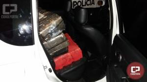 Equipe Rotam de Umuarama recupera veículo furtado, carregado com mais de 300 kg de maconha