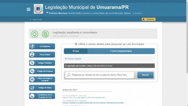 Novo portal facilita pesquisa de leis municipais em Umuarama