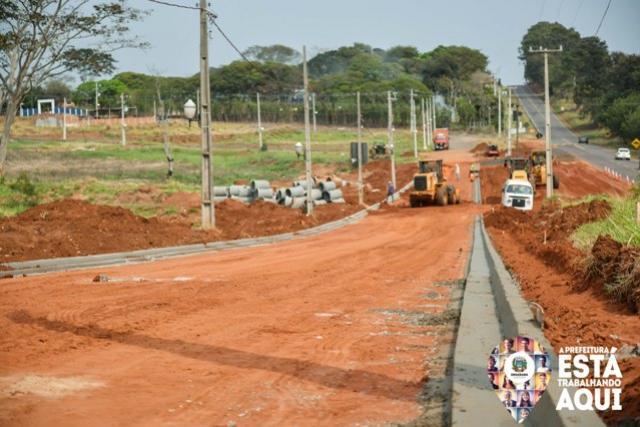 Obras em Umuarama já passaram da metade da extensão do trajeto
