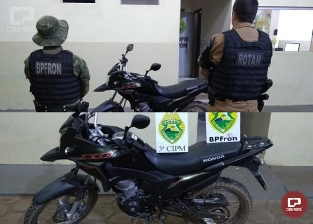 BPFRON recupera motocicleta furtada em Santa Isabel do Ivaí