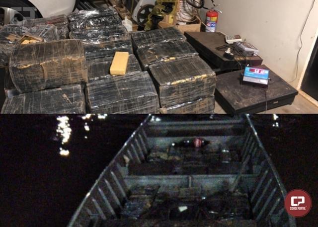 Grande quantidade de drogas foram apreendidas e duas pessoas presas em Guaíra durante Operação Hórus