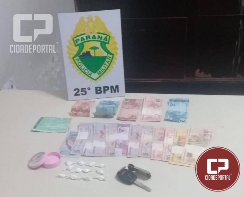 Três pessoas fora presas em Iporã por tráfico de entorpecentes pela Polícia Militar