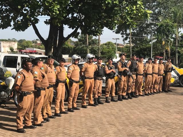 7° BPM faz lançamento da Operação Natal em Cruzeiro do Oeste