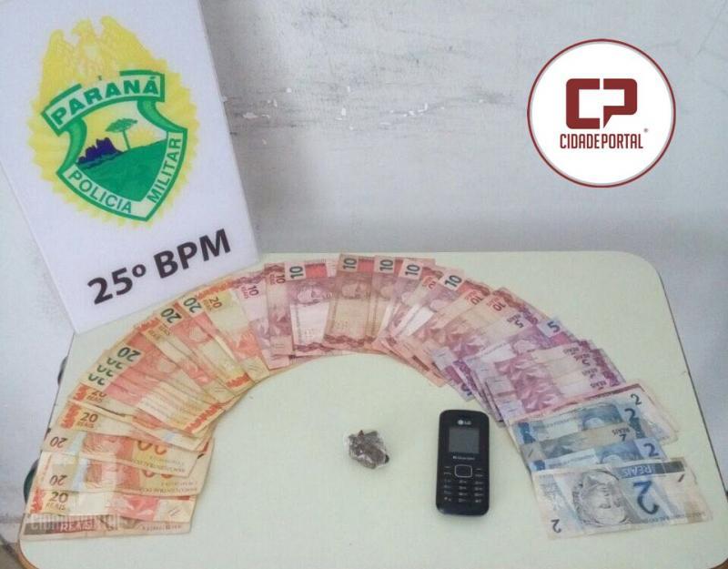 Equipe da RPA de Umuarama apreende menor com drogas e 500 reais em notas trocadas