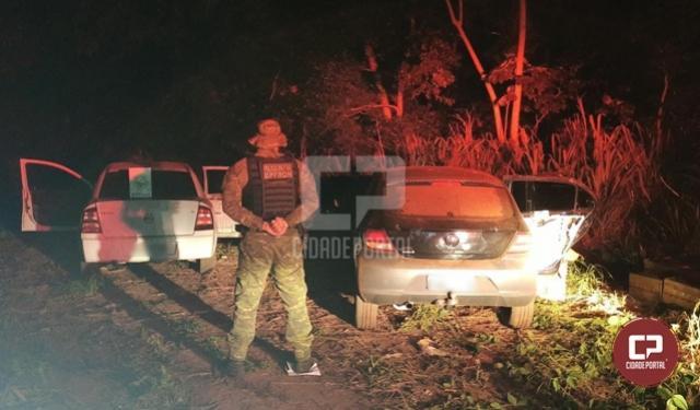 BPFron apreende carros carregados com cigarros contrabandeados durante Operação Hórus em Guaíra
