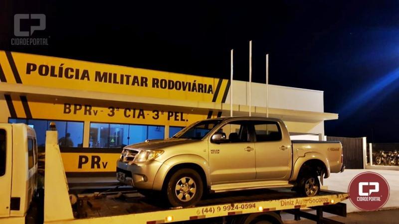Polícia Rodoviária Estadual de Iporã recupera Toyota Hilux roubada e aprende 02 adolescentes