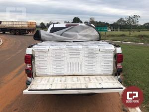 Equipe Rotam da 3ª CIA de Cascavel recupera veículo com alerta de furto e apreende contrabando