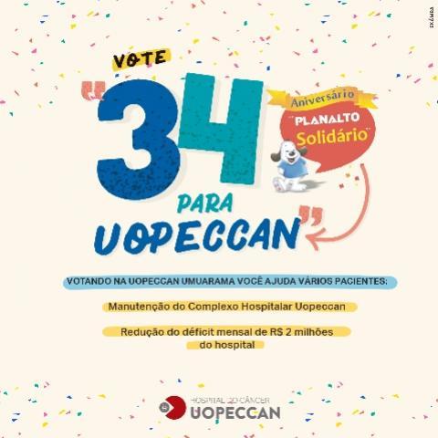 Uopeccan de Umuarama participa da campanha de aniversário dos supermercados Planalto