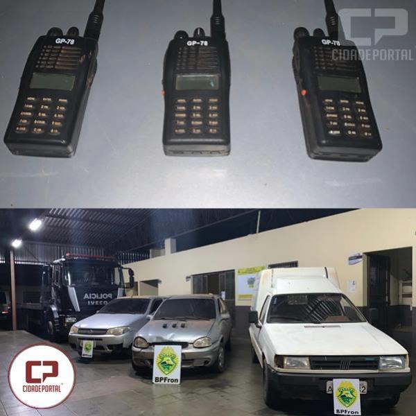 BPFron aprende 3 veículos usados para transporte de ilícitos em Guaíra