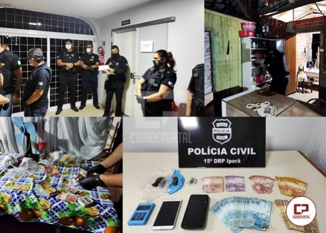 Polícia Civil cumpre 6 mandados de busca e apreensão em Iporã