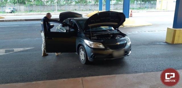 PRF de Guaíra recupera veículo roubado em Londrina