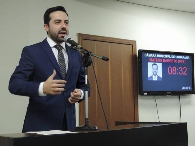 Mateus Barreto protocola projeto de Seguro Anticorrupção para obras públicas