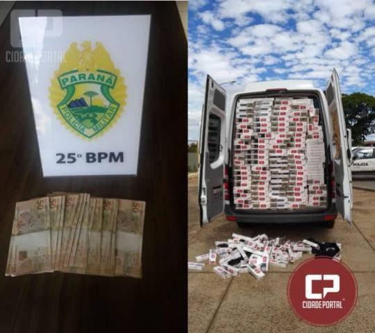 Equipe RPA com apoio da ROTAM apreende veículo com cigarros contrabandeados