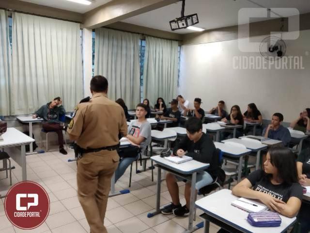 De volta a Aulas a Patrulha Escolar de Umuarama inicia um rol de Palestras interativas nas escolas