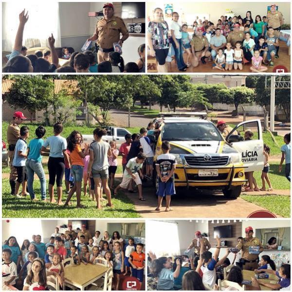Policiais Rodoviários do Posto de Iporã realizaram Ação Social Páscoa em entidades