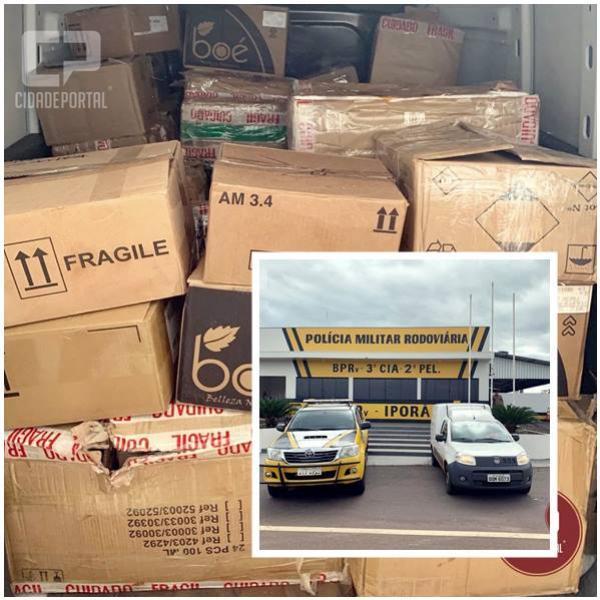 Posto Policial de Iporã apreende veículo carregado com contrabando