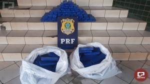 PRF prende casal com 100 kg de maconha em Guaíra