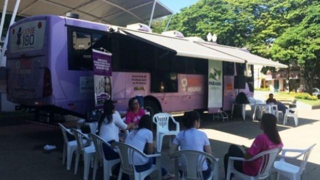Umuarama recebe Ônibus Lilás no combate à violência contra a mulher