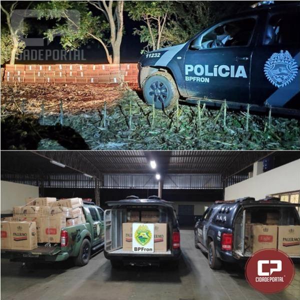 BPFron apreende contrabando de cigarros em Guaíra