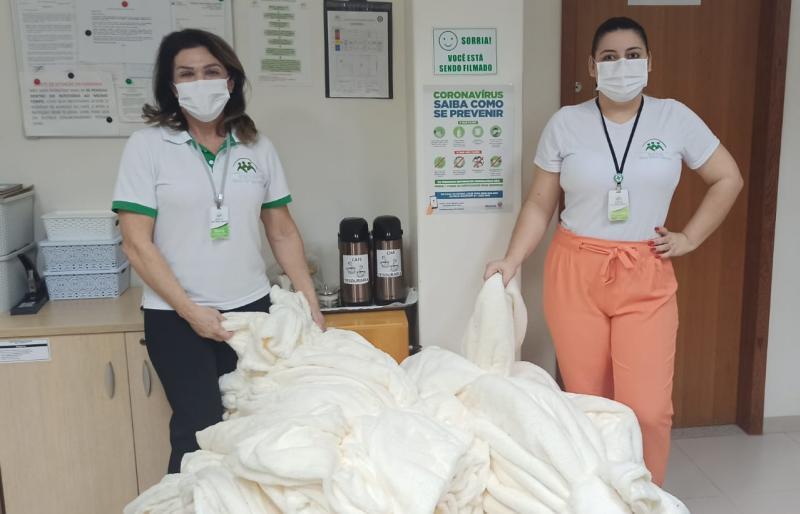 SOLIDARIEDADE: Ação entre amigos aquece pacientes da enfermaria do Instituto Nossa Senhora Aparecida