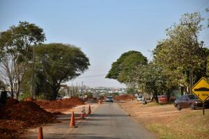 Primeiro trecho da Avenida Ivo Sooma de Umuarama receberá asfalto nos próximos dias