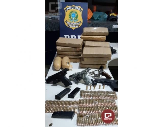 PRF apreende drogas, armas e munições em Alto Paraíso