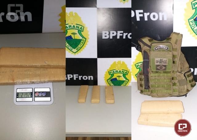 Exército Brasileiro e BPFRON apreendem drogas durante abordagem em ônibus na cidade de Guaíra