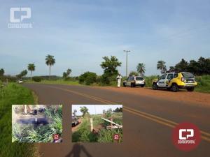Motociclista perde a vida em acidente entre Tapira e Douradina durante a madrugada deste sábado, 17