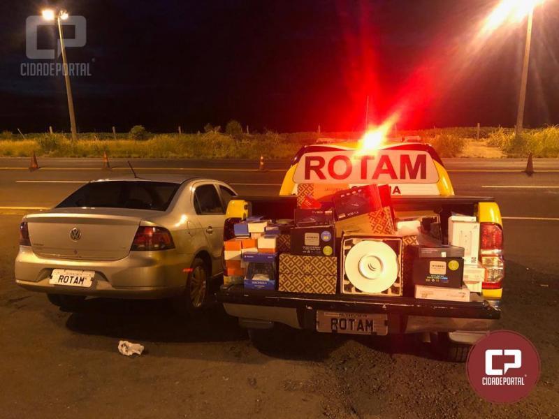 Rotam da 3ª Cia/BPRv da PRE apreende veículo carregado de mercadorias contrabandeadas em Perobal