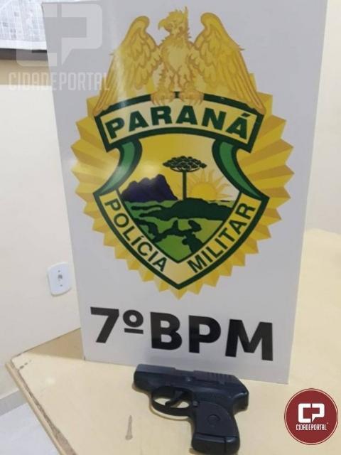 Arma de fogo é apreendida por policiais militares do 7º BPM em Tapira