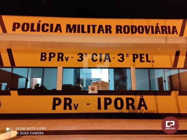 PRE de Iporã apreende mais de 20 kg de maconha em ônibus de linha