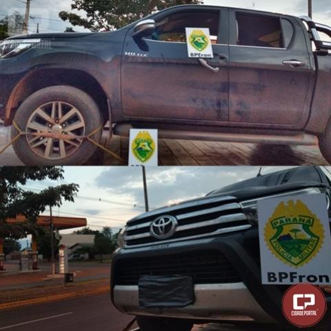 BPFron recupera veículo furtado e cumpre dois mandados de prisão no centro de Guaíra