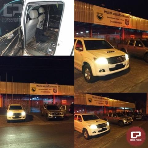 BPFron apreende dois veículos preparados para contrabando em Terra Roxa