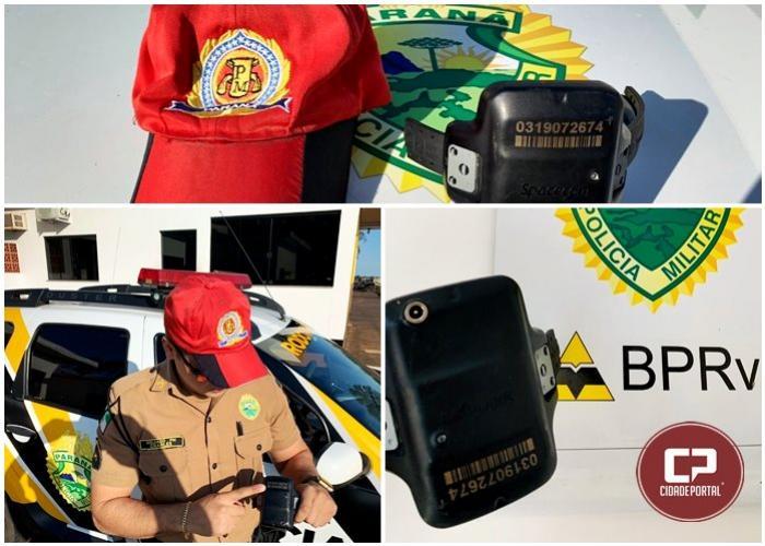 Polícia Rodoviária Estadual de Cruzeiro do Oeste encontra tornozeleira eletrônica na PR-323