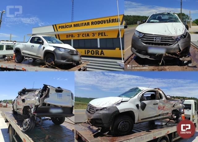 PRE de Iporã presta atendimento a acidente e recupera veículo furtado