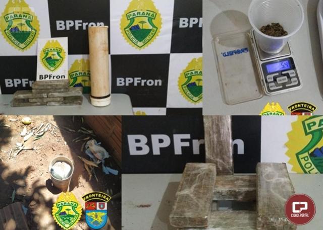 BPFron aprende mais de 4 kg de maconha em residência na cidade de Guaíra