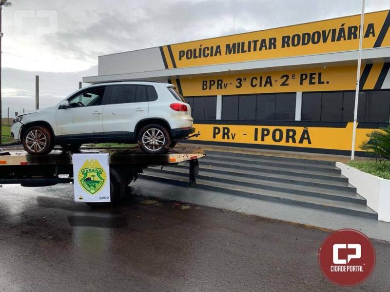 Polícia Rodoviária Estadual de Iporã recupera veículo roubado com placas clonadas