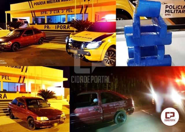 PRE de Iporã apreende veículo transportando maconha e prende uma pessoa