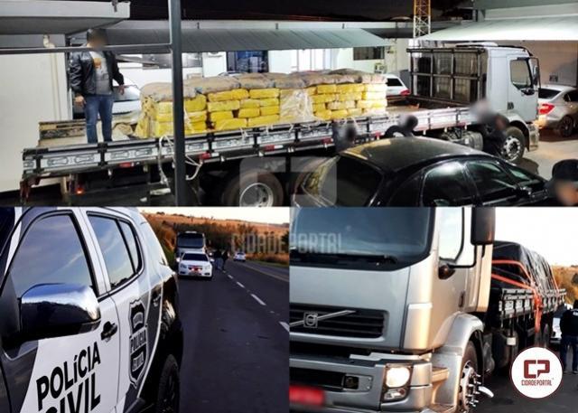 Polícia Civil de Umuarama apreende caminhão carregado com quase 4 toneladas de maconha