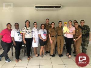 Policiais femininas participam de café da manhã e palestra sobre saúde em alusão ao outubro rosa