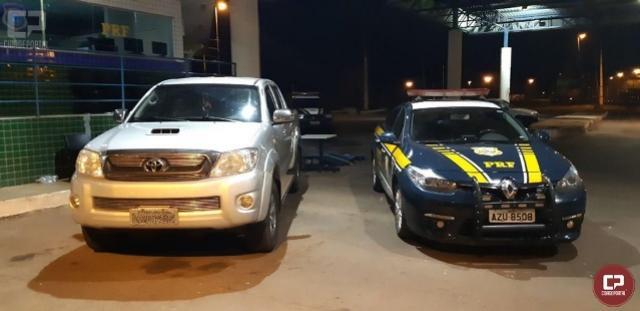 PRF recupera em Guaíra veículo roubado em Marechal Cândido Rondon