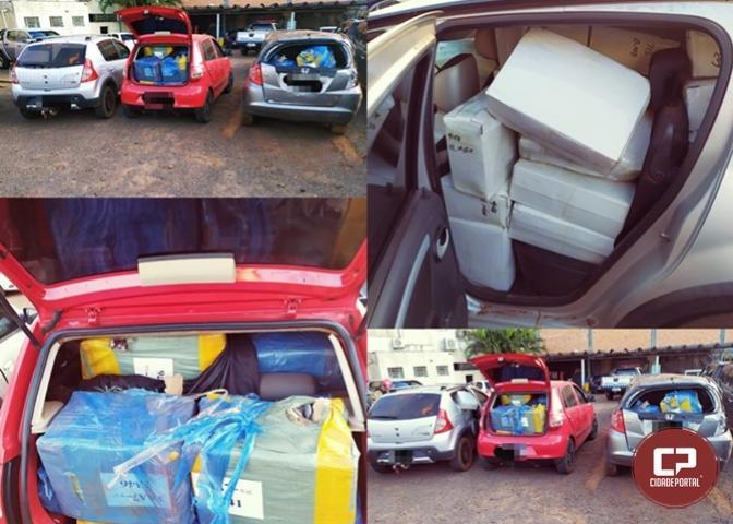 ROTAM da PRE de Cascavel apreende três veículos carregados com produtos de descaminho