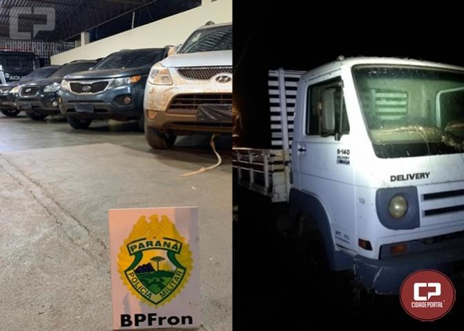 BPFron apreende veículos e rádios transceptores em Terra Roxa durante Operação Hórus
