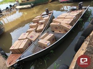 Operação Hórus registra apreensão de duas embarcações carregadas com cigarros contrabandeados